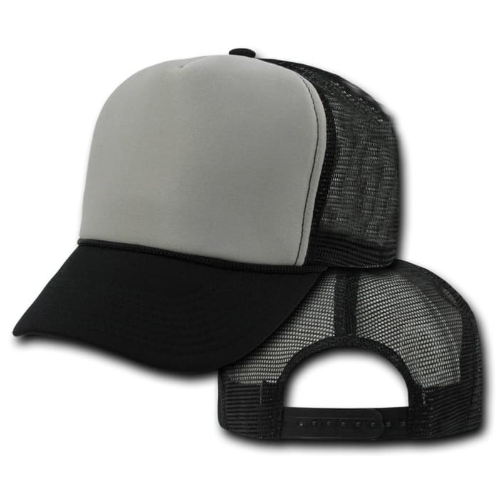 Black and Gray Trucker Hat