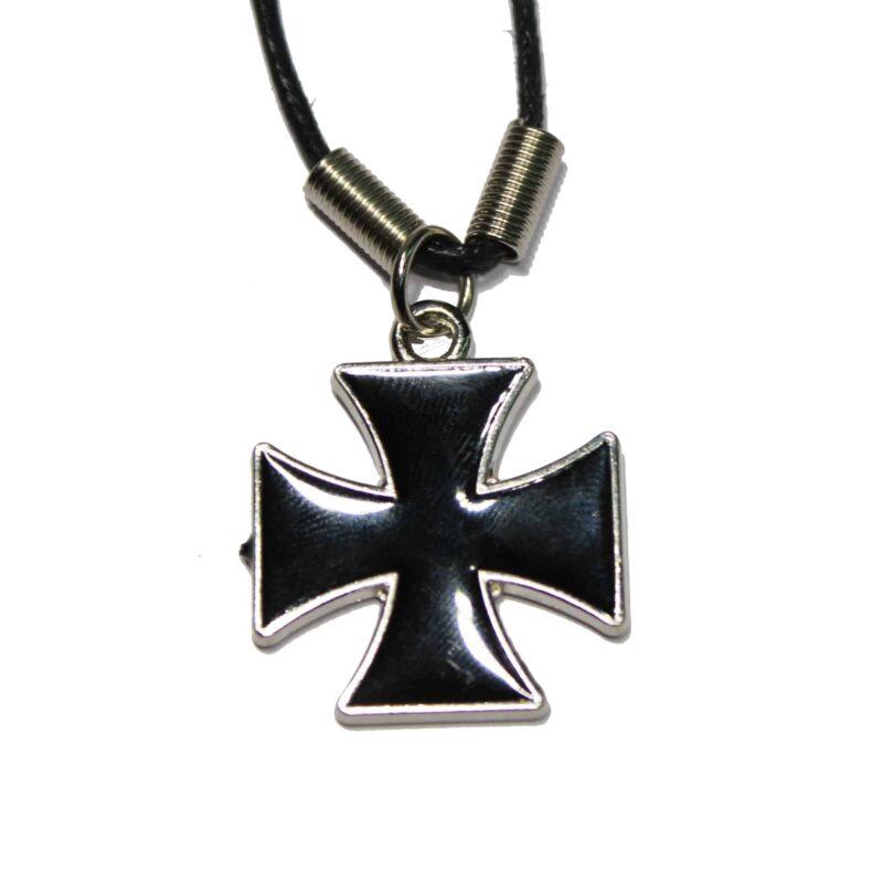 Black Iron Cross Necklace 1