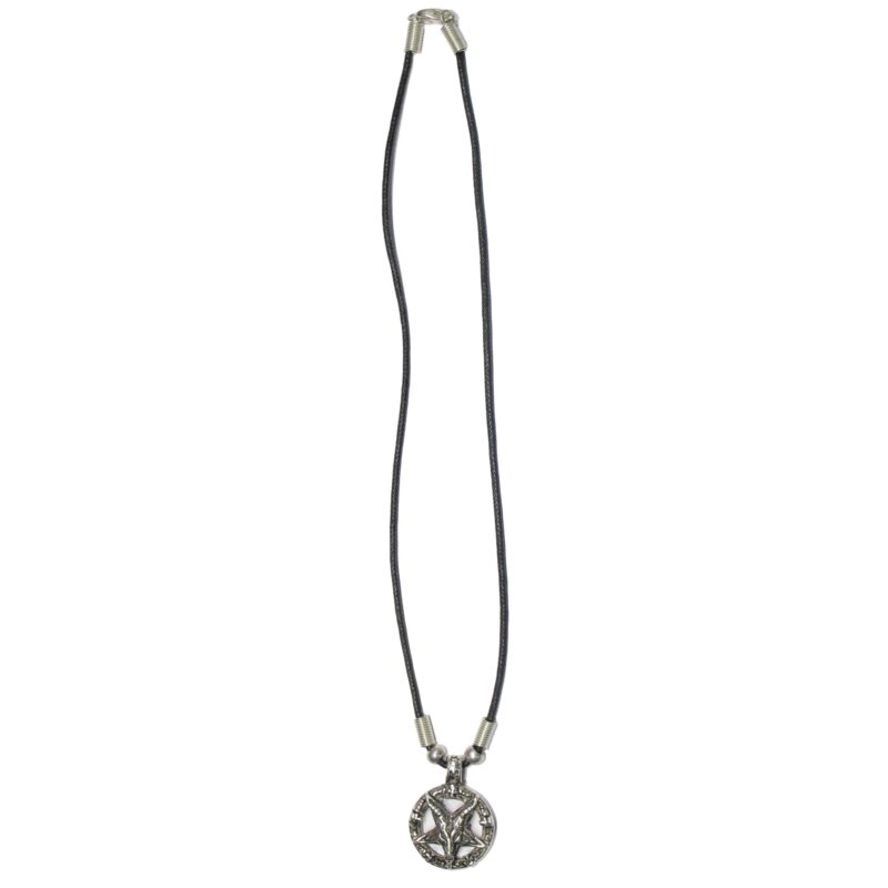 Pentagram Goat Head Necklace