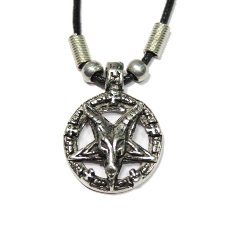 Pentagram Goat Head Necklace 1