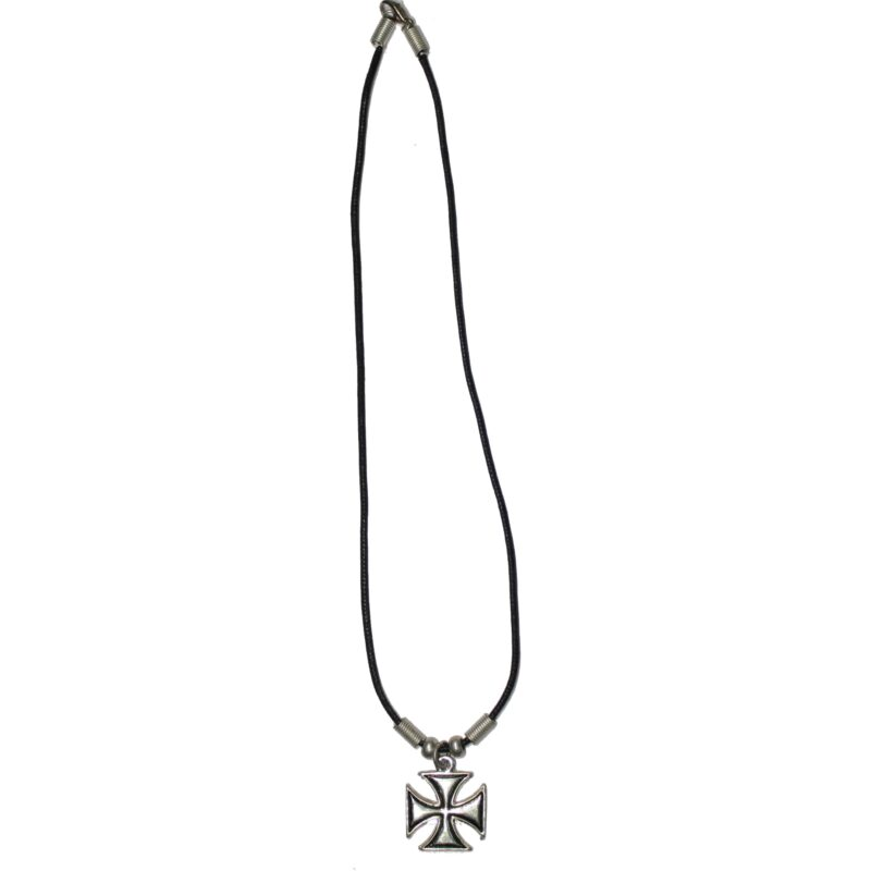 Silver Iron Cross Necklace