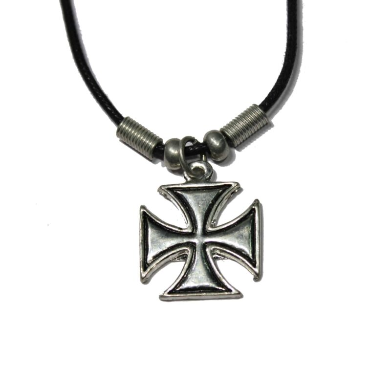 Silver Iron Cross Necklace 1