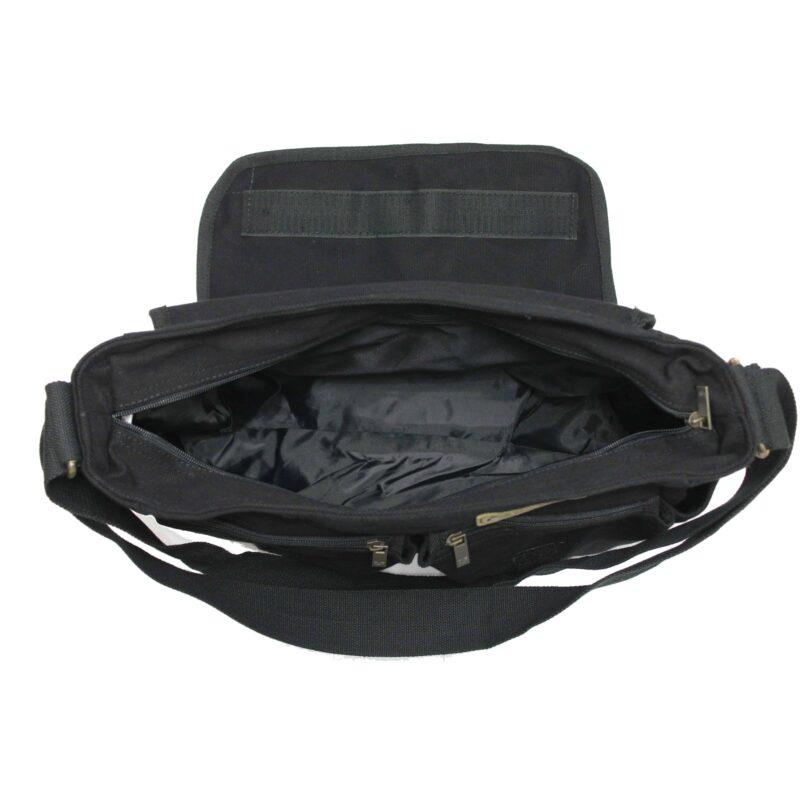 Black Military Messenger Bag 3