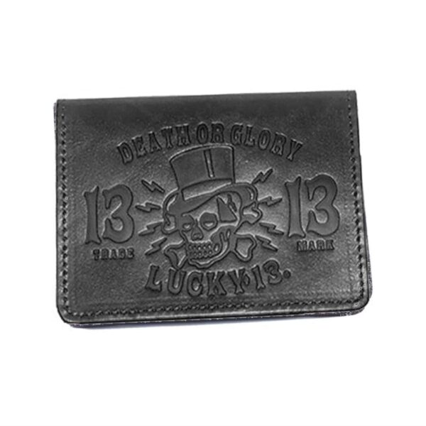 Lucky 13 Wallet Death or Glory Card Holder Black