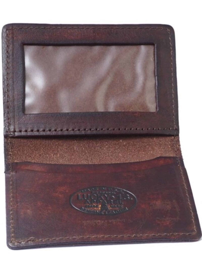 Lucky 13 Wallet Death or Glory Card Holder Brown 1