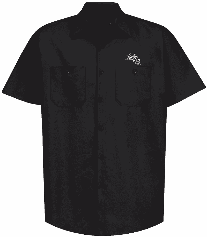 Lucky 13 Work Shirt Ace of Spades 1