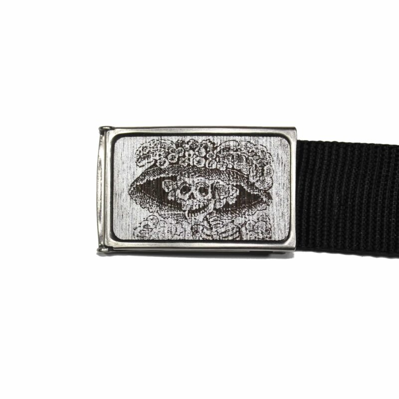 Gray and Silver Catrina Buckle Web Belt 1