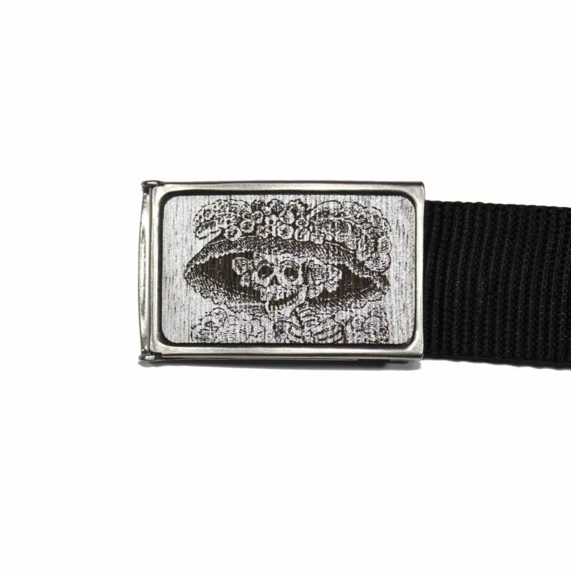 Web Belt Gray and Silver Catrina 1