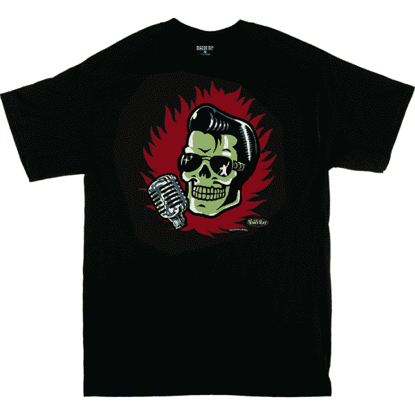 Vince Ray Elvis Skull T-Shirt