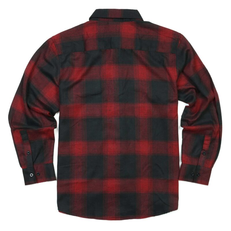 Black and Red Plaid Flannel Shirt 1