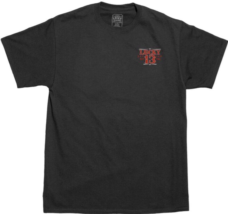 Lucky 13 T-Shirt Adrian Hotrod Pinup Girl 1