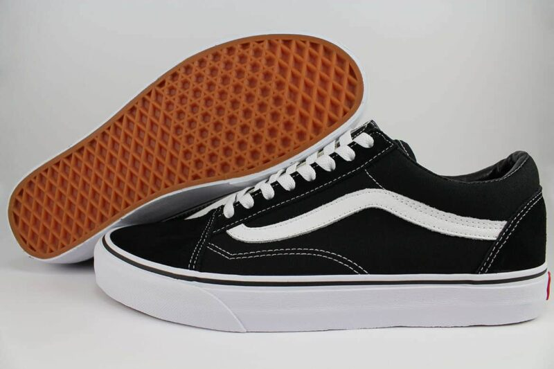 Vans Old Skool Black/White Canvas & Suede Upper 2