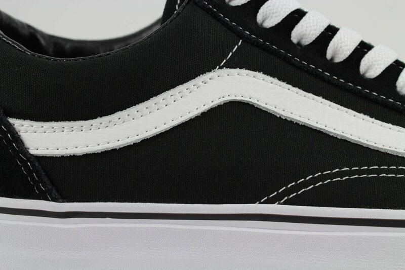 Vans Old Skool Black/White Canvas & Suede Upper 8