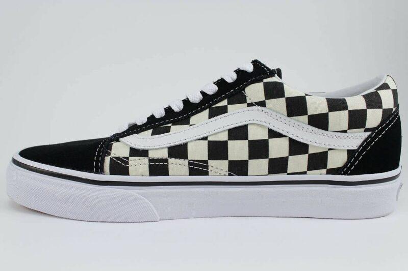 Vans Old Skool Checks Black/White Canvas & Suede Upper 3