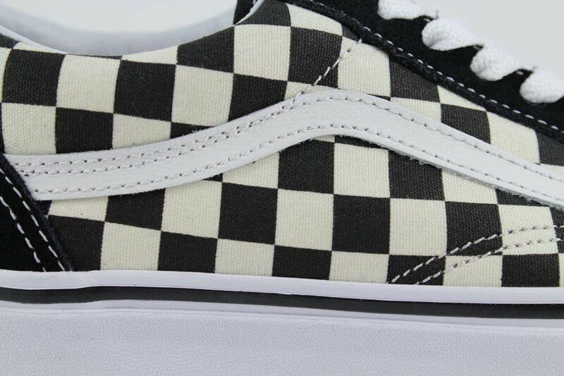 Vans Old Skool Checks Black/White Canvas & Suede Upper 8