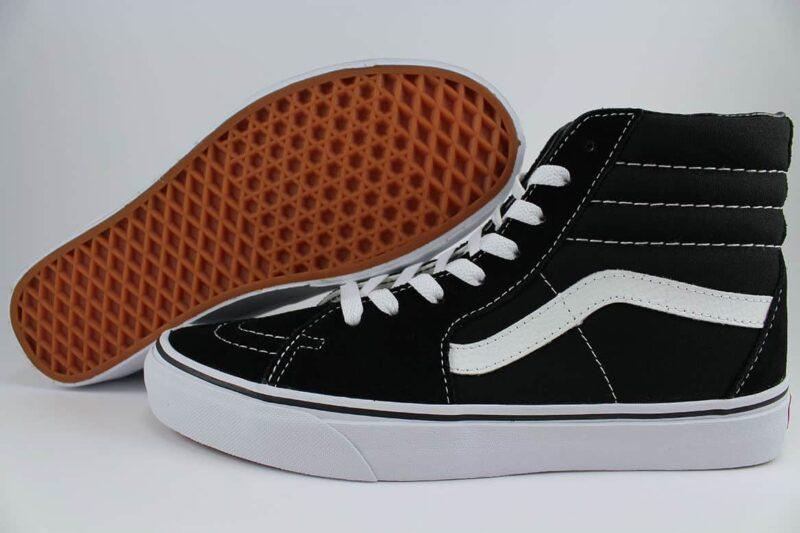 Vans Sk8 Hi Black/White Canvas & Suede Upper 2