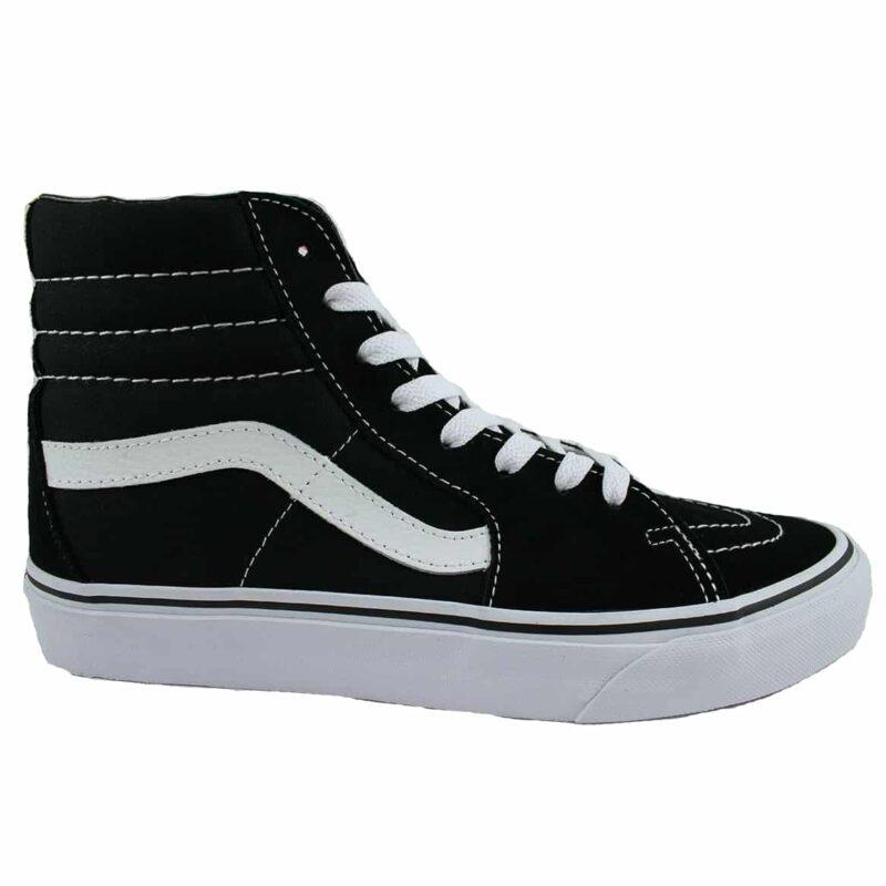Vans Sk8 Hi Black/White Canvas & Suede Upper 1