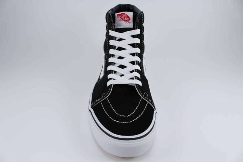 Vans Sk8 Hi Black/White Canvas & Suede Upper 4
