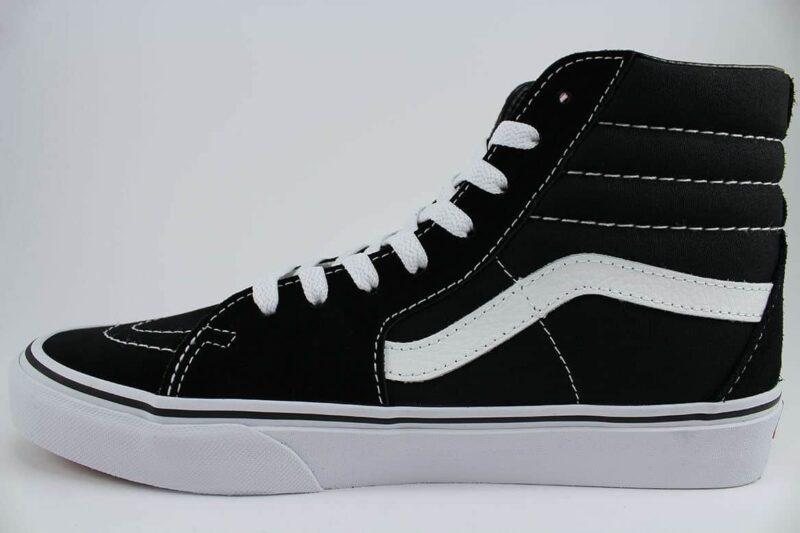 Vans Sk8 Hi Black/White Canvas & Suede Upper 3