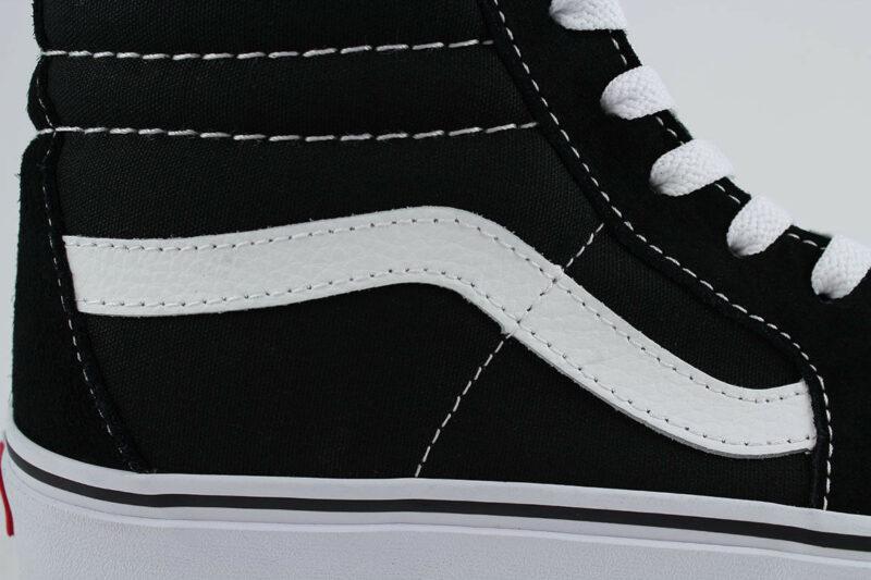 Vans Sk8 Hi Black/White Canvas & Suede Upper 8