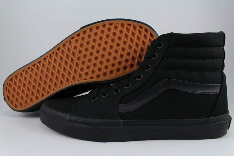 Vans Sk8 Hi Black/Black Canvas & Suede Upper 2