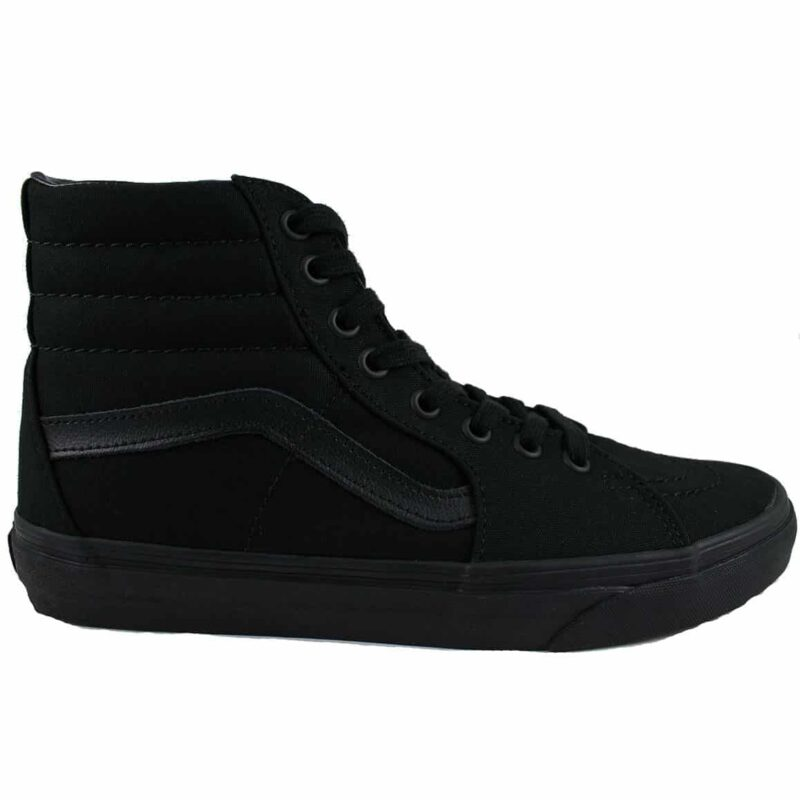 Vans Sk8 Hi Black/Black Canvas & Suede Upper 1