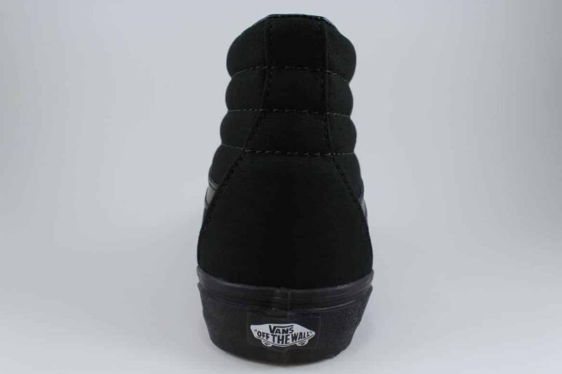 Vans Sk8 Hi Black/Black Canvas & Suede Upper 6