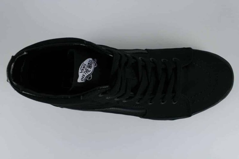 Vans Sk8 Hi Black/Black Canvas & Suede Upper 5