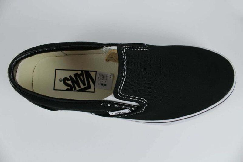 Vans Classic Slip-On Shoes Black/White 5