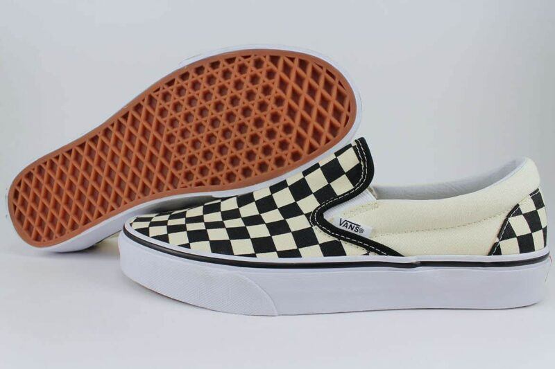 Vans Classic Slip-On Checks Black/White Canvas Upper 2