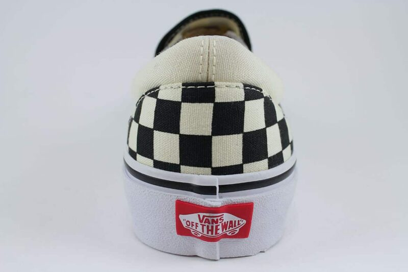 Vans Classic Slip-On Checks Black/White Canvas Upper 6