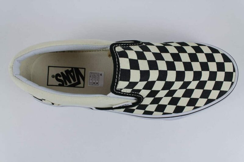 Vans Classic Slip-On Checks Black/White Canvas Upper 5