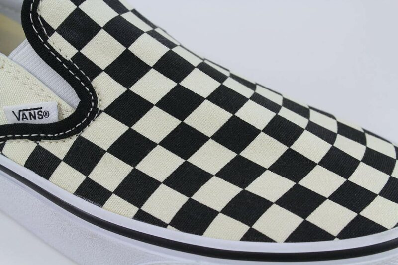 Vans Classic Slip-On Checks Black/White Canvas Upper 8