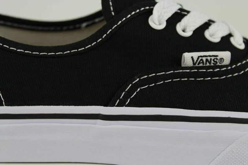 Vans Authentic Black/White Canvas Upper 8