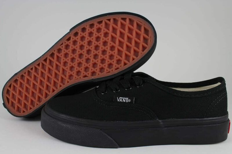 Vans Authentic Black/Black Canvas Upper 2