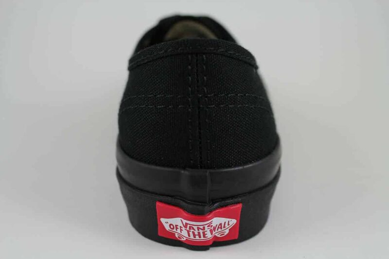 Vans Authentic Black/Black Canvas Upper 6