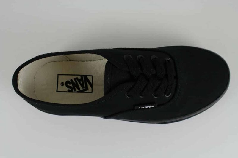 Vans Authentic Black/Black Canvas Upper 5