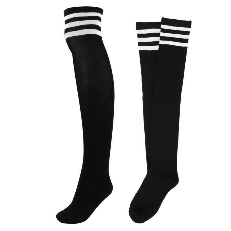 Black Striped Knee High Socks