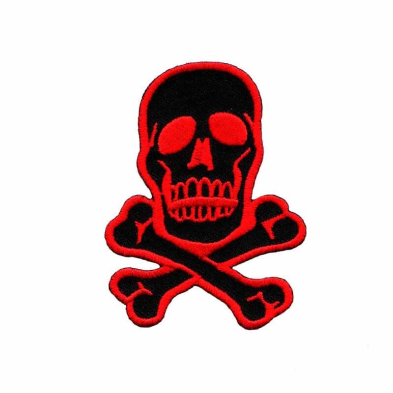Red and Black Skull Patch