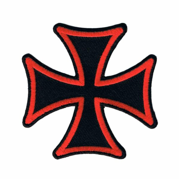 Red Iron Cross Patch