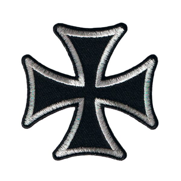 Silver Iron Cross Patch