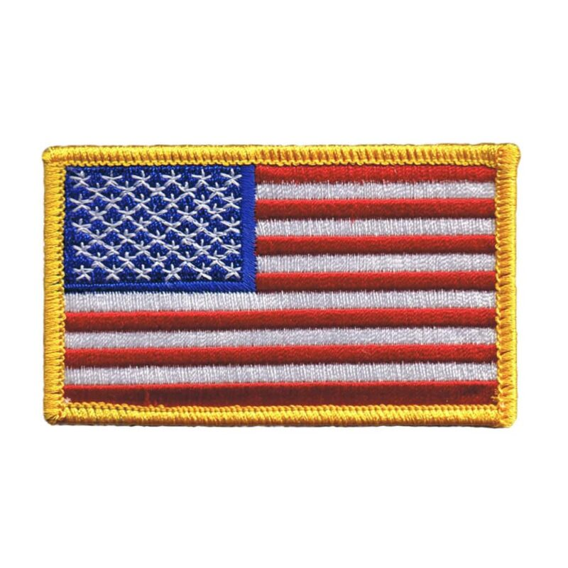 American Flag with Gold Border Patch