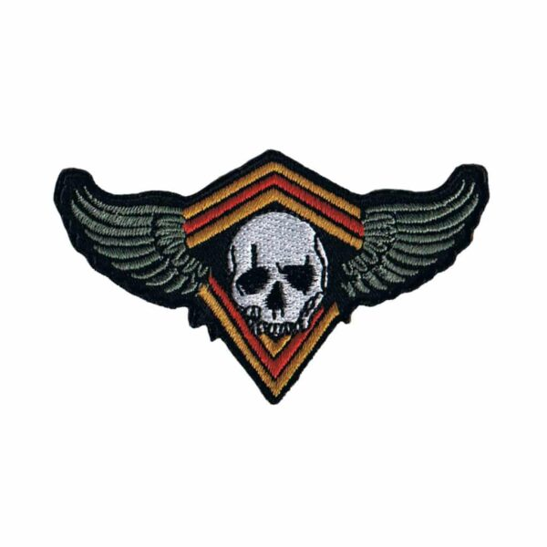 Skull and Wings on a Diamond Patch