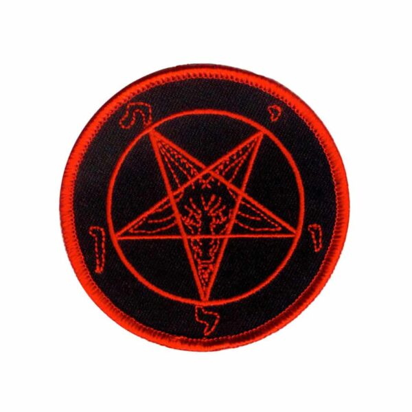 Black and Red Pentagram Patch