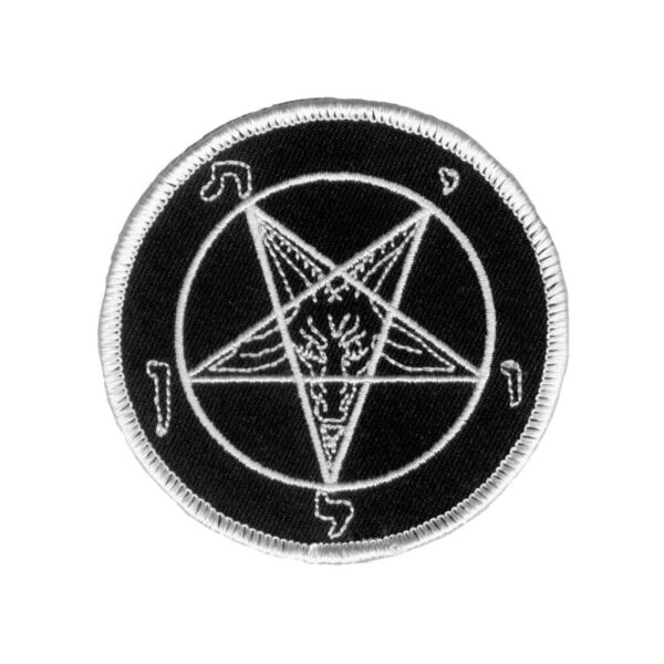 Black and White Pentagram Patch