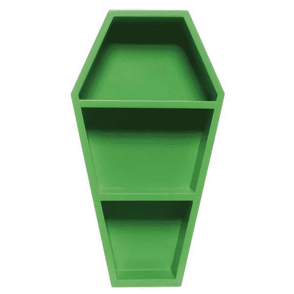 Green Coffin Shelf by Sourpuss Clothing