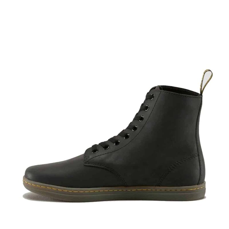 Dr. Martens Black Tobias Greasy Lamper 8-Eye Boot 3