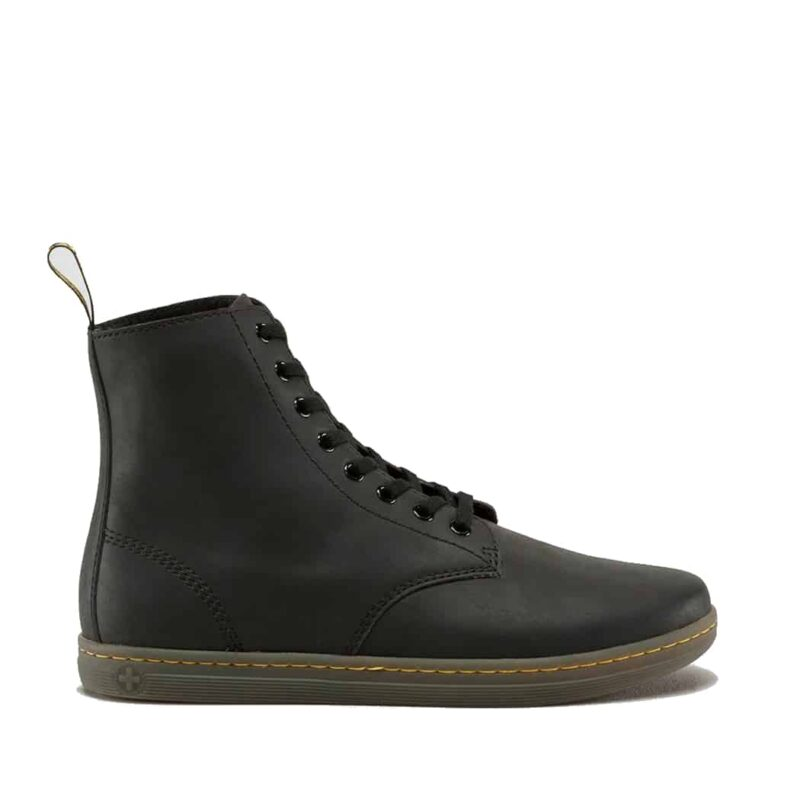 Dr. Martens Black Tobias Greasy Lamper 8-Eye Boot 1