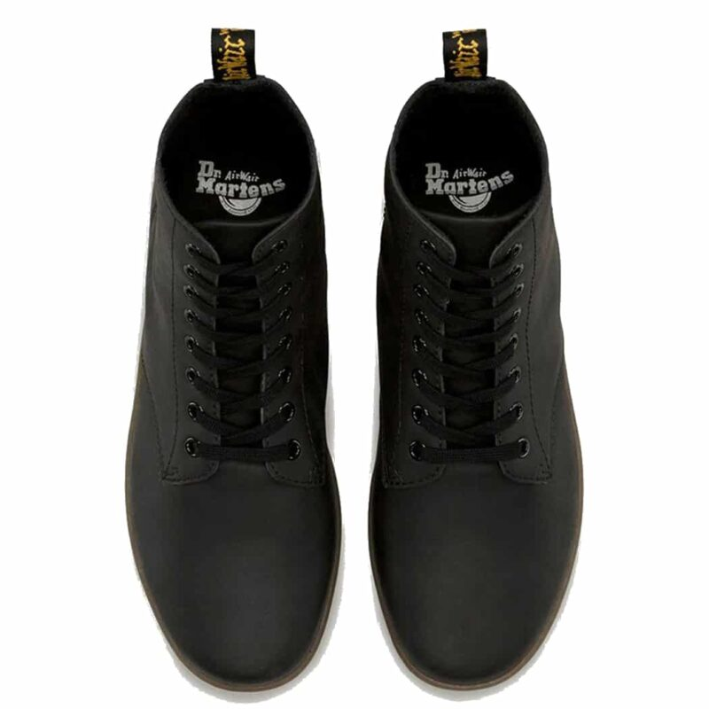Dr. Martens Black Tobias Greasy Lamper 8-Eye Boot 6