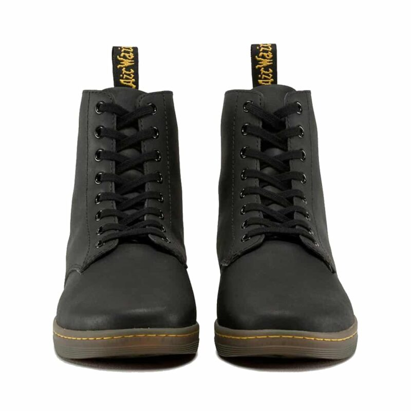 Dr. Martens Black Tobias Greasy Lamper 8-Eye Boot 2